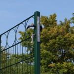 Luxe poort voor afrastering op de bestrating