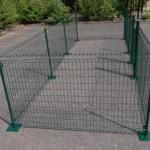 12 vierkante meter dierenren voor op de straat
