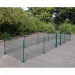 Kippenren Rectangle Groen met voetplaten 800x200x123 cm