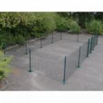 Kippenren Rectangle Groen met voetplaten 800x400x123 cm