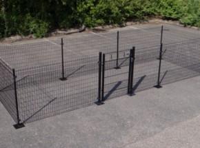 Kippenren Rectangle Zwart met voetplaten 600x200x123 cm