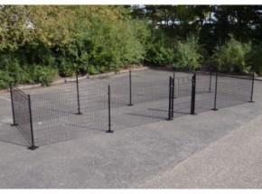 Kippenren Rectangle Zwart met voetplaten 800x200x123 cm