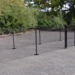 Dierenren Rectangle Zwart met voetplaten 800x200x123 cm