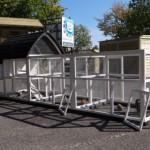 Konijnenhok Kathedraal L is voorzien van ruime deuren voor optimale toegankelijkheid