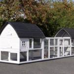 Dierenverblijf Kathedraal Luxe - XL met aanbouwrennen en funderingssets