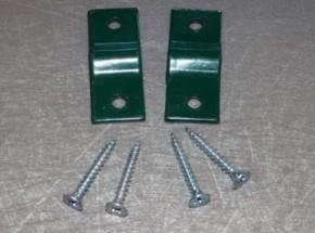 Muurklem of houtklem voor gaaspaneel groen muurbevestiging afrastering 2 stuks