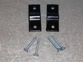 Muurklem of houtklem voor gaaspaneel zwart muurbevestiging afrastering 2 stuks