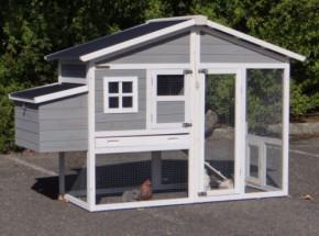 Kippenhok Niels met kunststof dak en legnest 187x72x120cm