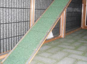 Loopplank voor konijnenhok of kippenhok 120x18cm