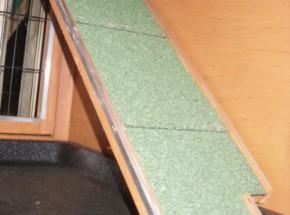 Loopplank voor konijnenhok 75x16cm