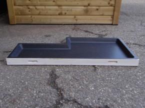 Schuiflade voor dierenhok wit - met inkeping 107,5x54cm
