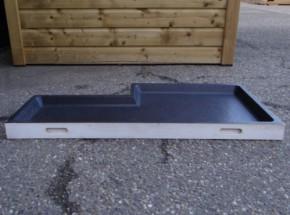 Schuiflade voor dierenhok wit - met inkeping 107x54cm