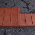 Schuiflade voor dierenhok bruin - met inkeping - onderkant