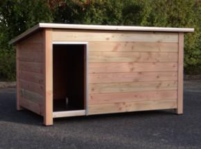 Hondenhok Loebas XL Douglas hout, Geïsoleerd 225x152x122cm