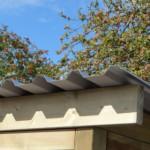 Hondenren met extra overstek aan het dak