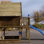 Mega groot speelhuis Dreamhouse met glijbaan en zandbak