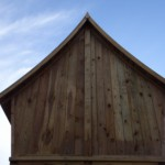 Stevig houten huis van geïmpregneerd Grenenhout