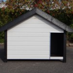Recht in de kijker: Groot, geïsoleerd, houten hondenhok Turbo wit/zwart