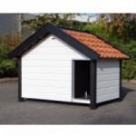 Hondenhok Turbo Wit/Zwart geïsoleerd 219x154x164 cm