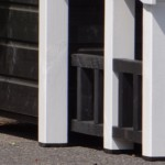 Hondenhok Snuf met veranda Zwart/Wit, geïsoleerd