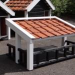 Veranda hondenhok Snuf met dakpannen