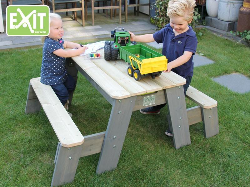 Multifunctionele Indoor Picknicktafel : Exit aksent picknicktafel met bankjes