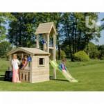 Speelhuis Lookout Laag met glijbaan Geïmpregneerd houtpakket, op maat gezaagd Blue Rabbit