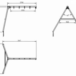 Aanbouw-schommel @swing muurschommel • 270cm