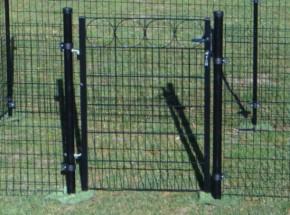 Poort Zwart voor zachte ondergrond 100x125/170 cm