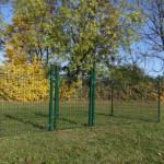 Afrastering | omheining groen | met poort | 4x2m