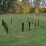 Afrastering Square, mooie zwarte omheining als tuinafscheiding