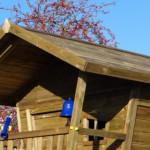 Overdekte veranda speelhuis Birdy