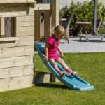 Glijbaan houten speelhuis | Lookout