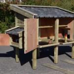 Kippenhok Professional Dubbel | met grote deuren voor optimale toegankelijkheid