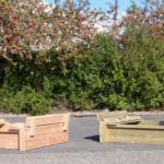Houten zandbak Cubic Twist verkrijgbaar in Douglashout of geïmpregneerd Vurenhout