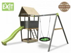 Exit Aksent Speeltoren met aanbouwschommel nestschommel