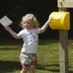 Brievenbus geel | speelhuis - speeltoren - speeltoestel