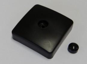 Kunststof afdekkap voor duikelrek paal Zwart 9x9cm