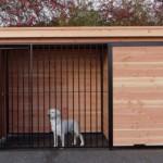 Hondenkennel FORZ zwart/Douglas met houtkader