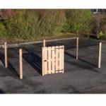 Afrastering Rectangle Zwart/Douglas met houten poort 400x200x125