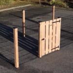 Afrastering Rectangle Zwart/Douglas met houten poort