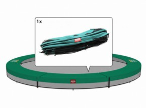 Trampolinerand BERG Champion InGround Groen | voor ronde trampoline | 270 - 430 cm