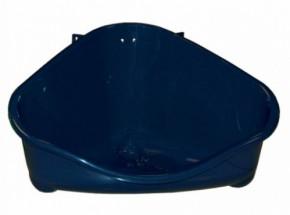 Konijnentoilet met haak Blauw