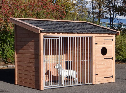 Hondenkennel Max 1 Douglas Met geïsoleerd nachthok 341x182x240cm