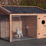 Hondenren voorzien van keramische dakpannen