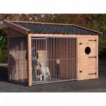 Hondenkennel Max 2 Douglas met geïsoleerd nachthok 341x182x240cm