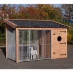 Hondenren Max 3 Douglas met geïsoleerd nachthok 341x182x240cm