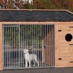 Hondenkennel Max 3 Douglas met nachthok 341x182x240cm