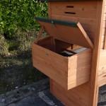 Konijnenhok Holiday Large met geopende nestkast