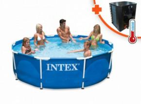 Zwembad & verwarming EasyHeat 2 warmtepomp Intex Metal Frame Ø305x76cm